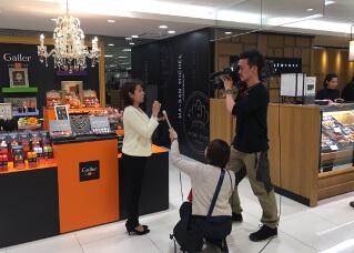 地元のテレビ局から取材を受けた時の写真です。2017年4月14日